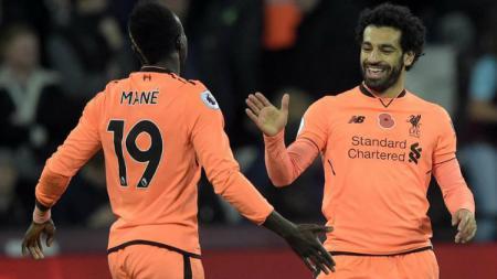 Mohamed Salah dan Sadio Mane sempat terlibat perseteruan beberapa waktu lalu. - INDOSPORT