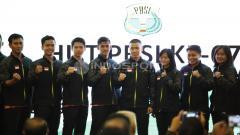 Indosport - Skuat Thomas dan uber Cup Indonesia foto bersama.