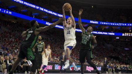 Pertandingan NBA Boston Celtics vs Philadelphia 76ers. - INDOSPORT