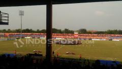 Indosport - Persibo vs Madura United.