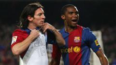 Indosport - Pernah bermain bersama, Lionel Messi berikan pesan pada sang legenda Barcelona, Samuel Eto'o yang telah lebih dulu pensiun.