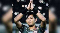 Indosport - Kiper Persija Jakarta, Rizky Darmawan.