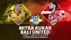 Indosport - Mitra Kukar vs Bali United.