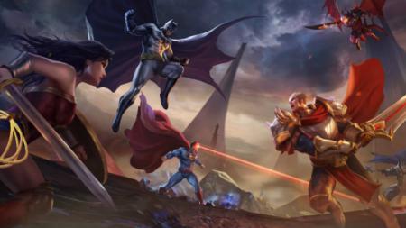 Batman (kiri) menjadi salah satu Jungler di game eSports Arena of Valor (AOV) - INDOSPORT