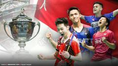 Indosport - Kevin Sanjaya, Marcus Fernaldi, Jonatan Christie, dan Firman Abdul Kholik.
