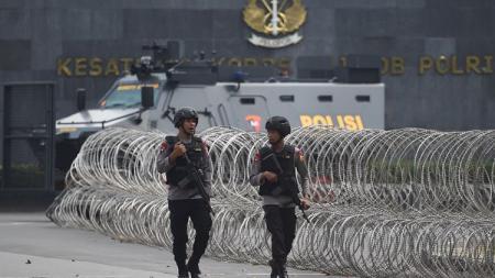 Pengamanan di Mako Brimob, Depok. - INDOSPORT