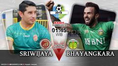 Indosport - Prediksi Sriwijaya FC vs Bhayangkara