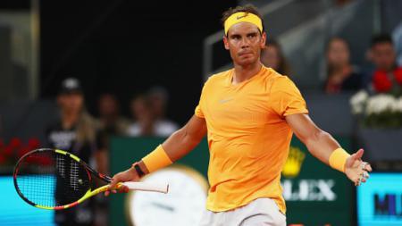 Rafael Nadal hampir tidak pernah marah-marah di lapangan. - INDOSPORT