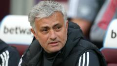 Indosport - Jose Mourinho, pelatih Man United.