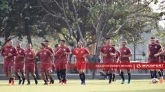 Indosport - Latihan tertutup Persija Jakarta Jelang Lawan MU.