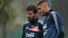 Indosport - Lionel Messi dan Mauro Icardi di Timnas Argentina.