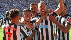 Indosport - Selebrasi pemain Newcastle.