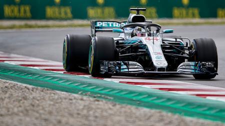 Lewis Hamilton di GP Spanyol 2018. - INDOSPORT