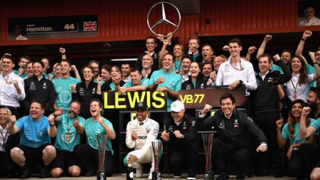 Lewis Hamilton di GP Spanyol. - INDOSPORT