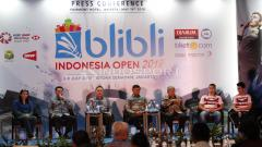 Indosport - Susi Susanti dan Wiranto, Jumpa Pers jelang Indonesia Open 2018.
