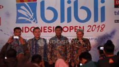 Indosport - Jumpa Pers jelang Indonesia Open 2018.