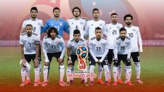 Indosport - Timnas Mesir di Piala Dunia 2018.