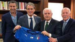 Indosport - Roberto Mancini diperkenalkan sebagai pelatih Italia.