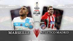 Indosport - Olympique Marseille vs Atletico Madrid.