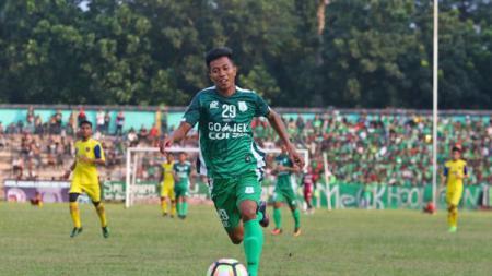 Pemain PSMS Medan, Suhandi. - INDOSPORT