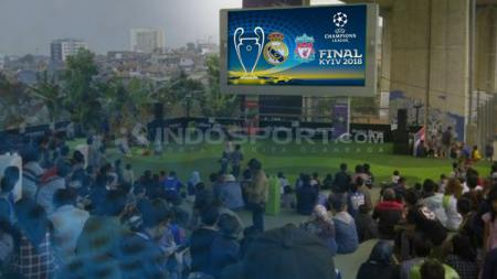 Nobar Final Liga Champions 2018. - INDOSPORT