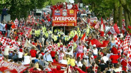 Para juara Liverpool tahun 2005. - INDOSPORT