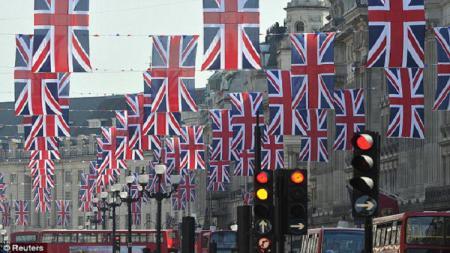 Bendera Union Jack. - INDOSPORT