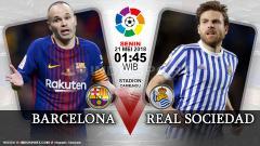 Indosport - Prediksi Barcelona vs Real Sociedad