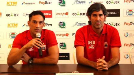 Addison Alves bersama Stefano Cugurra saat masih bekerja sama di Persija Jakarta edisi Liga 1 2018. - INDOSPORT