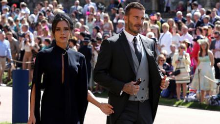David Beckham dan istrinya, Victoria. - INDOSPORT
