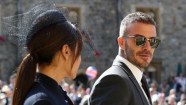 (GALERI FOTO) Tampil Keren, David Beckham Hadiri Pernikahan Pangeran Harry