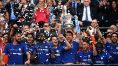 Indosport - Chelsea saat perayaan usai menjuarai Piala FA 2017/18.