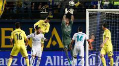 Indosport - Luca Zidane di laga melawan Villarreal.