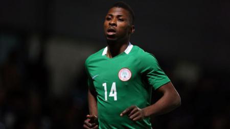 Pemain Tim Nasional Nigeria Kelechi Iheanacho. - INDOSPORT