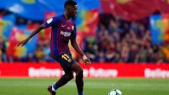 Indosport - Ousmane Dembele saat tampil membela Barcelona melawan Real Sociedad.