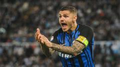 Indosport - Mauro Icardi ketika bermain di lapangan bersama Inter Milan.