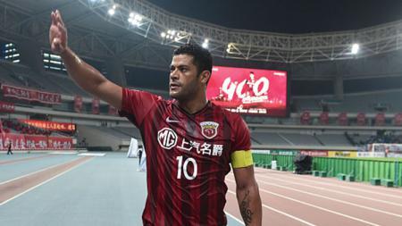 Eks penyerang Timnas Brasil yang kini bermain untuk Shanghai SIPG, Hulk, menjadi pemain incaran Espanyol jelang dibukanya bursa transfer musim dingin. - INDOSPORT