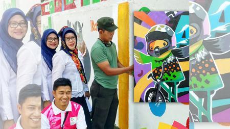 Antusias warga dalam menyambut Asian Games 2018 di Palembang. - INDOSPORT