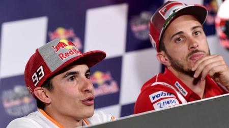 Pembalap MotoGP, Andrea Dovizioso, buka suara soal perpanjangan kontrak Marc Marquez bersama Honda. - INDOSPORT