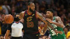 Indosport - Cleveland Cavaliers vs Boston Celtics