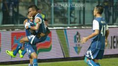 Indosport - Arema FC vs Bhayangkara FC.