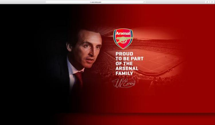 Screenshot website pribadi Unai Emery Copyright: mirror.co.uk