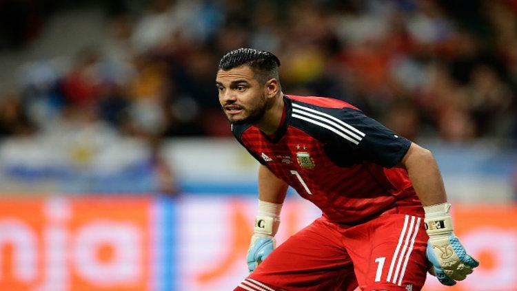 Sergio Romero saat bermain untuk Timnas Argentina. Copyright: Getty Image
