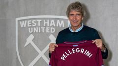 Indosport - Manuel Pellegrini, pelatih West Ham United.