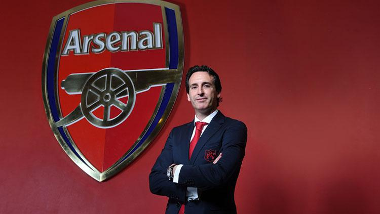 Unai Emery, pelatih Arsenal. Copyright: INDOSPORT