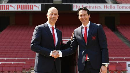 Unai Emery, pelatih Arsenal. - INDOSPORT