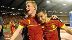 Indosport - Kevin de Bruyne dan Eden Hazard di Timnas Belgia.