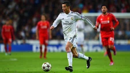 Cristiano Ronaldo saat melawan Liverpool. - INDOSPORT