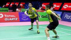 Indosport - Kevin Sanjaya/Marcus Fernaldi Gideon.