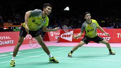 Indosport - Ganda putra Indonesia Fajar Alfian/Muhammad Rian Ardianto.